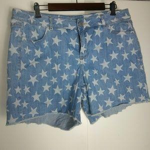 Lane Bryant star cut off shorts size 16